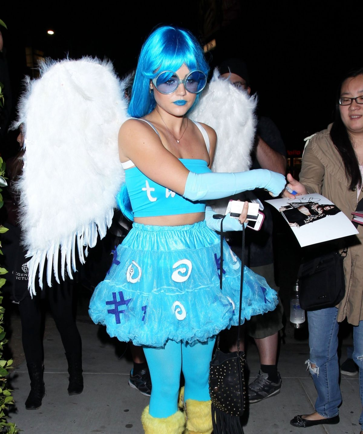 LUCY HALE at Matthew Morrison's Halloween Party in West Hollywood ...