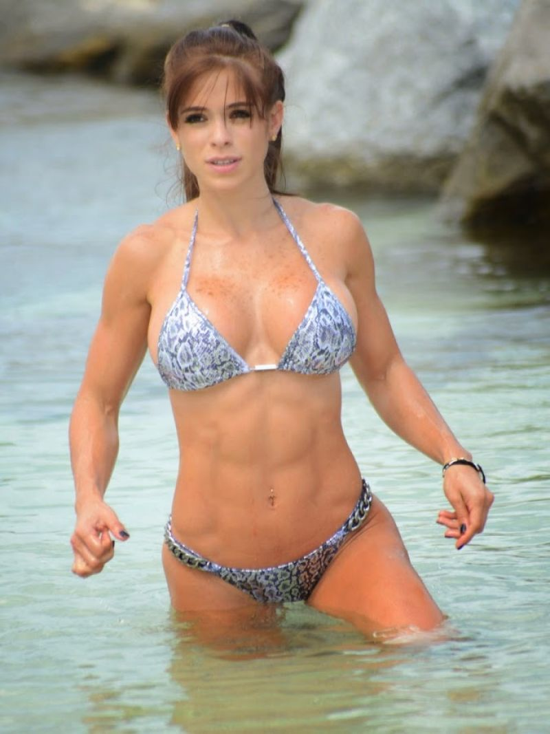 MICHELLE LEWIN in Bikini at a Beach in Miami
