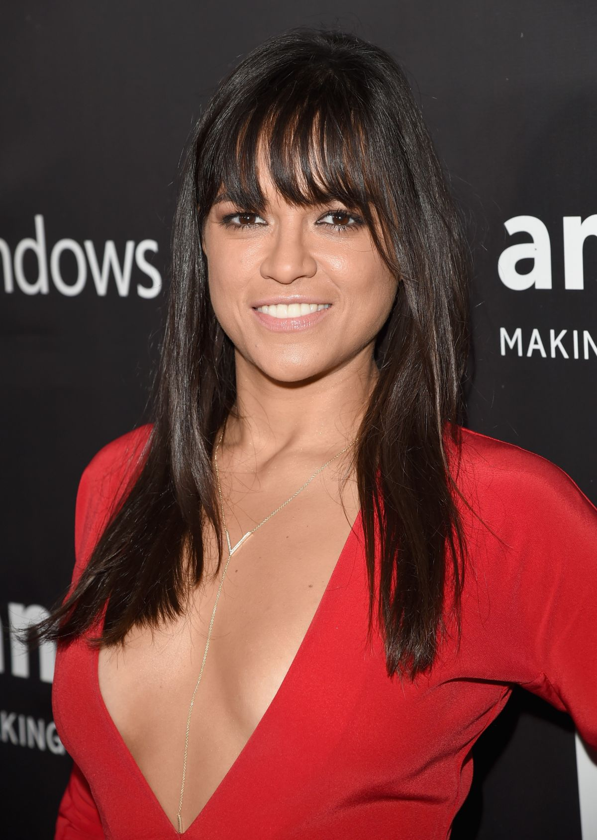 Michelle Rodriguez At 2014 Amfar La Inspiration Gala In