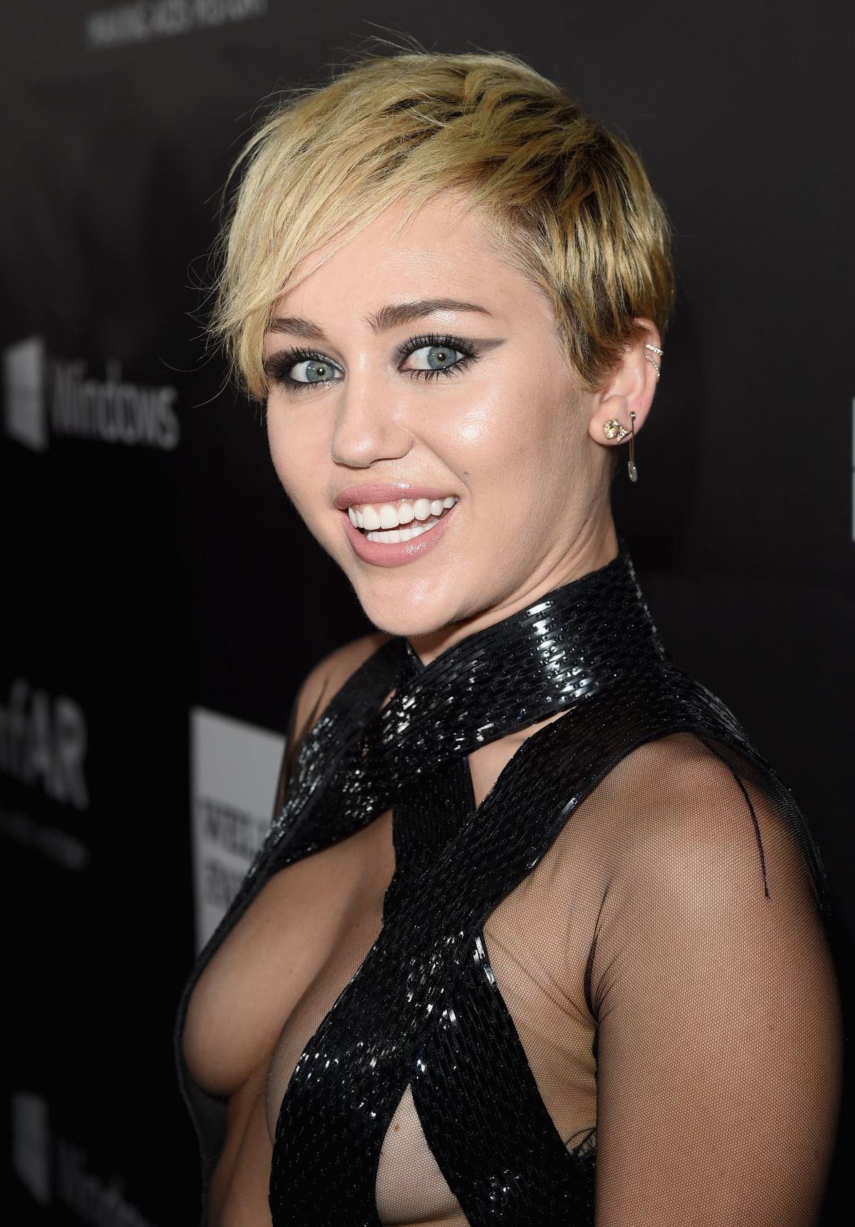 MILEY CYRUS at 2014 Amfar LA Inspiration Gala in Hollywood ...