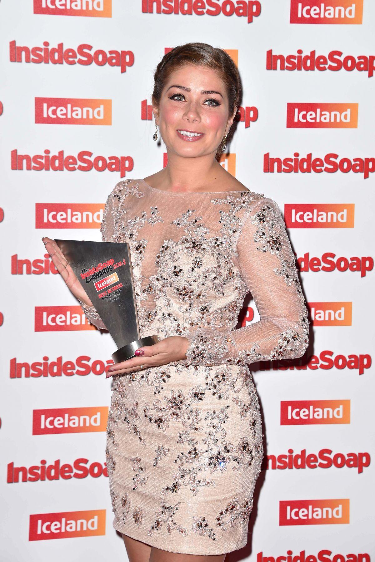 NIKKI SANDERSON at Inside Soap Awards in London
