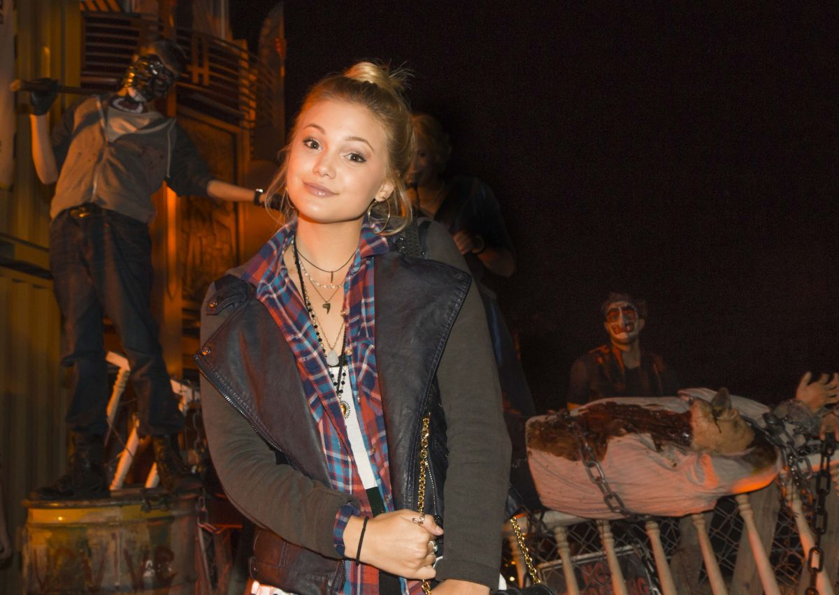 OLIVIA HOLT at Halloween Horror Nights 2014 in Universal City