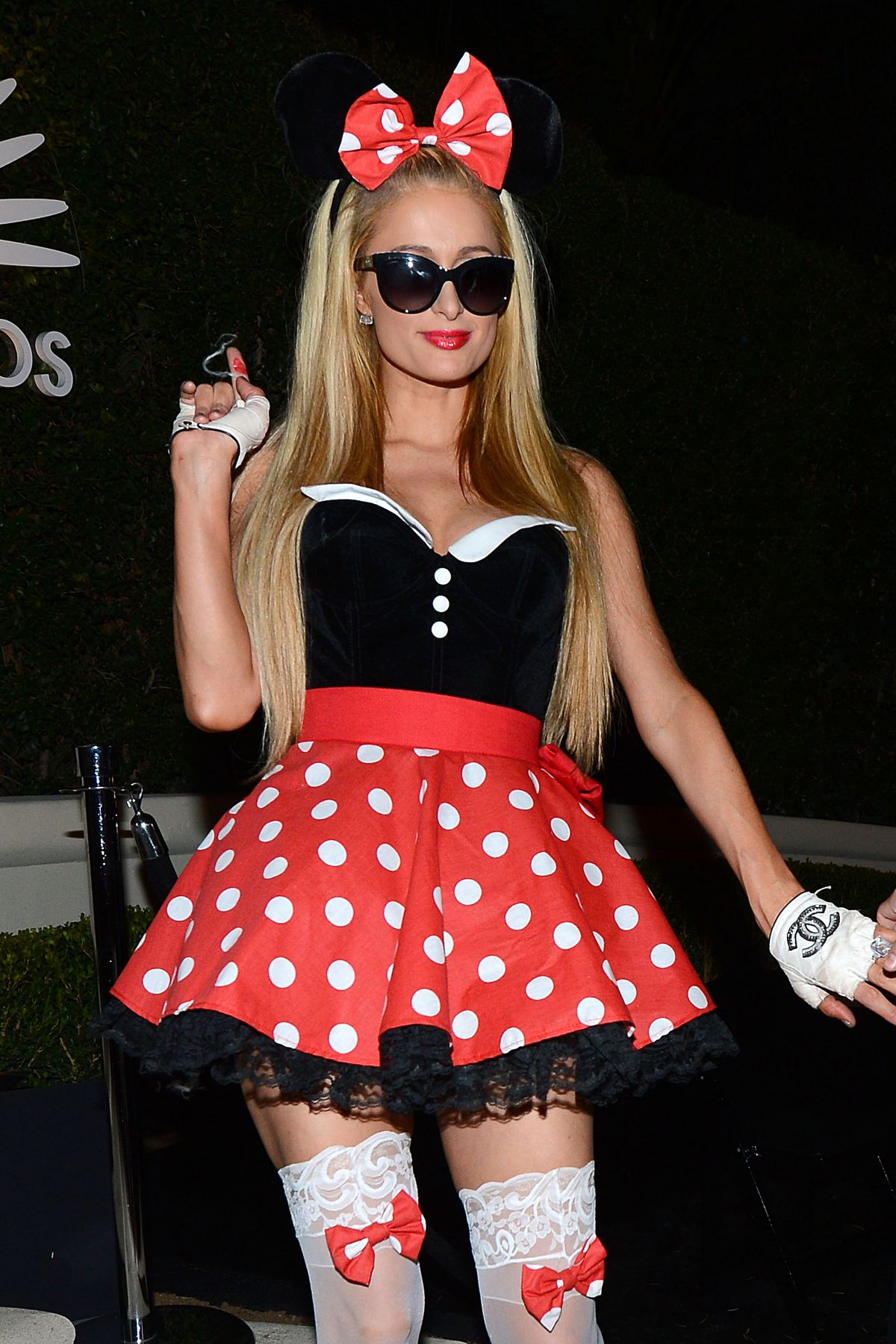 PARIS HILTON at a Halloween Party in Beverly Hills