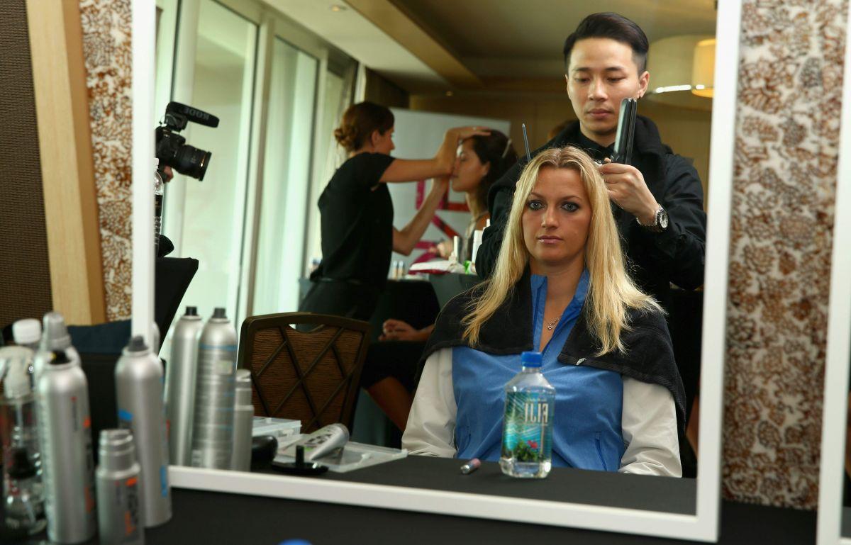 PETRA KVITOVA at BNP Paribas WTA Finals: Previews in Singapore