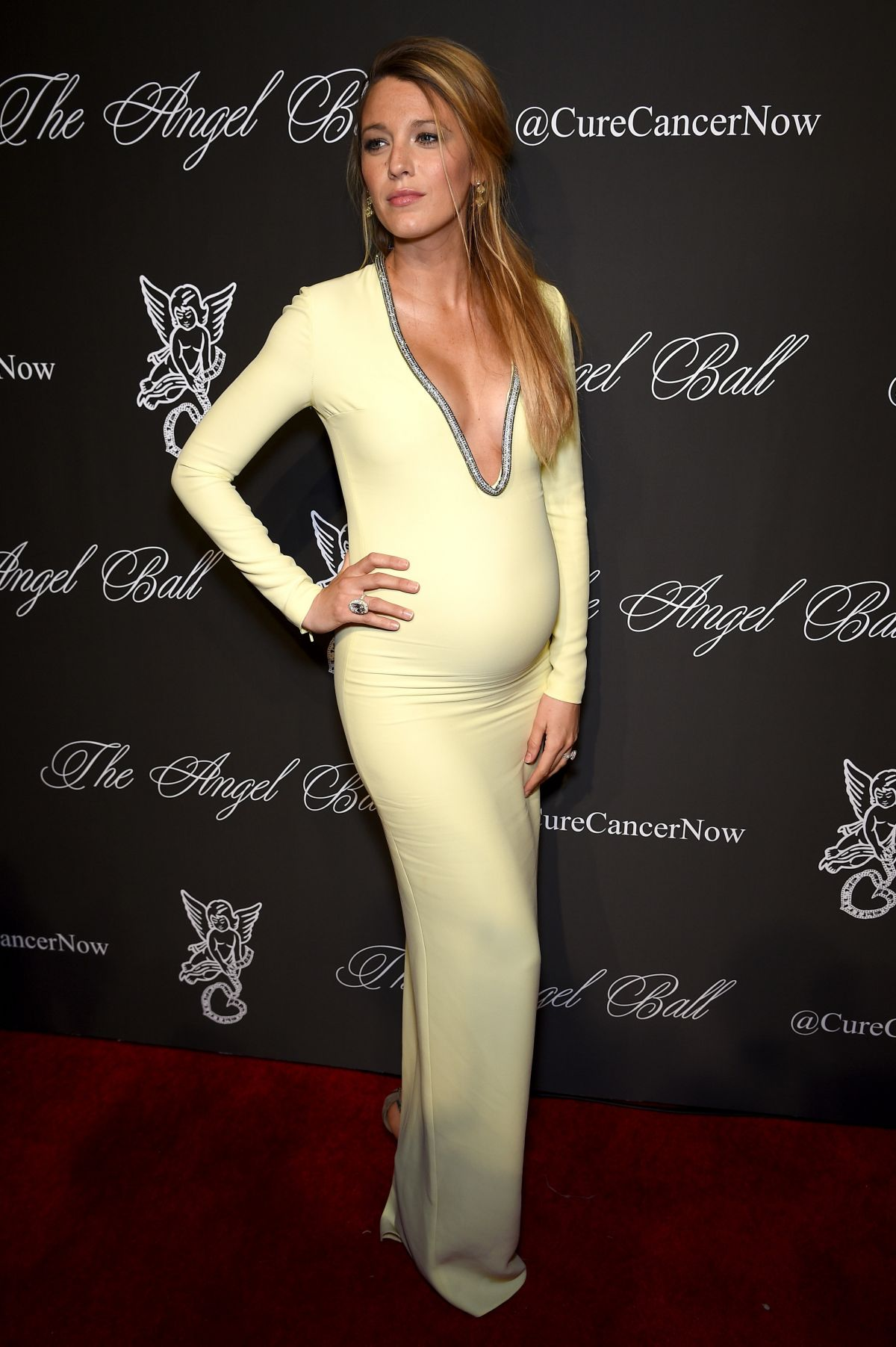 Pregnant BLAKE LIVELY at Angel Ball 2014 in New York
