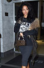 RIHANNA Leaves a Dentist Office in New York