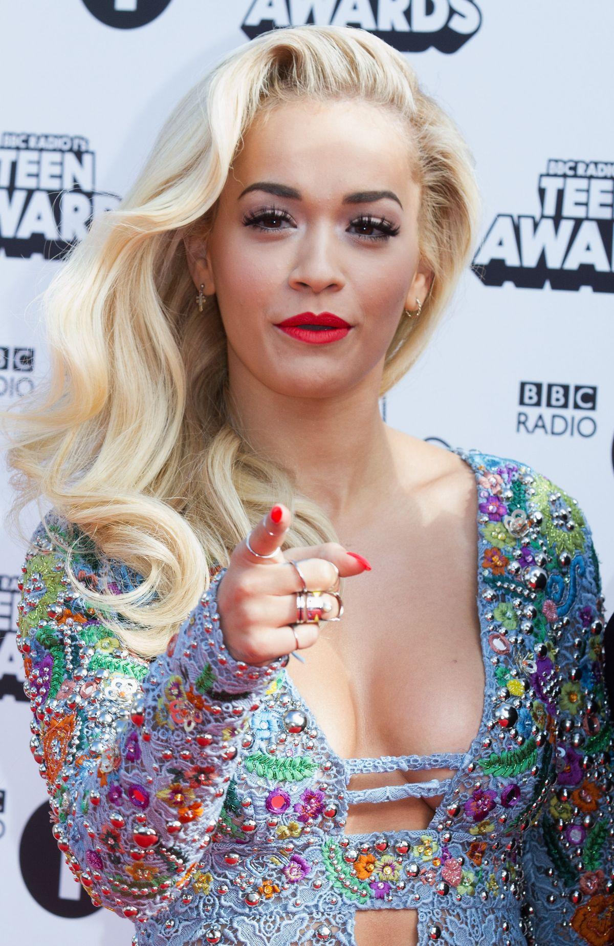 RITA ORA at Radio One Teen Awards at Wembley Arena in London
