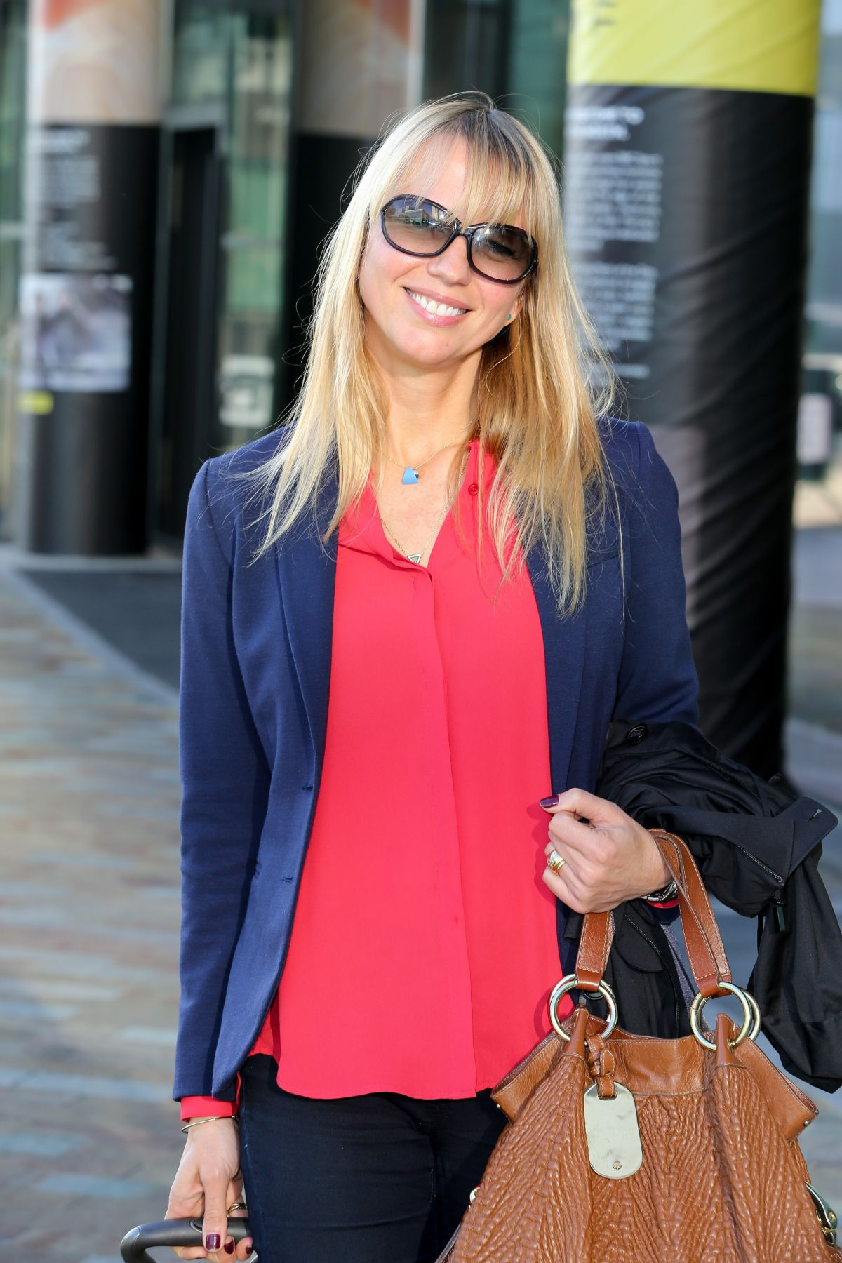 SARA COX Leaves BBC Breakfast Studio in Salford