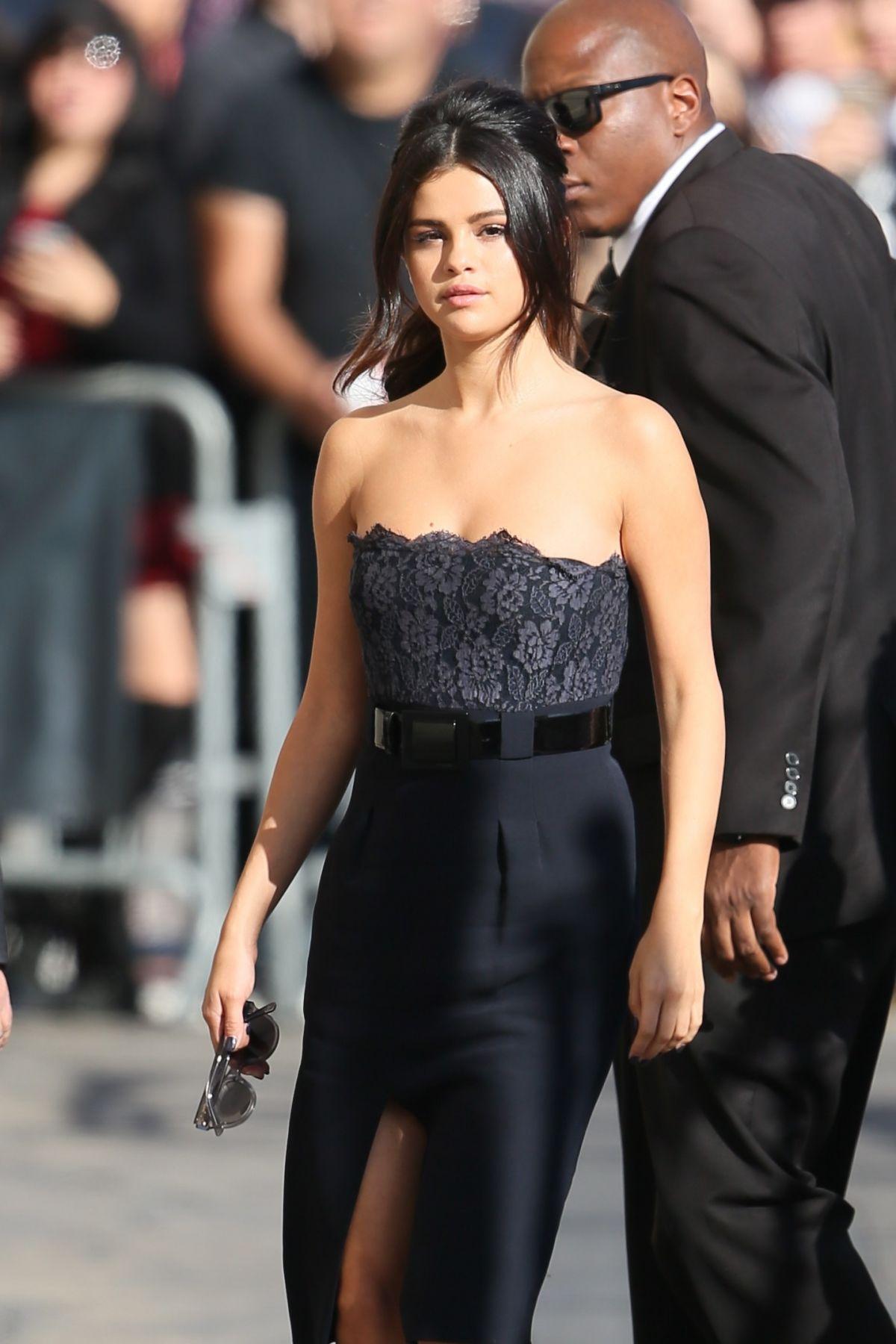 SELENA GOMEZ Arrives at Jimmy Kimmel Live in Hollywood 1510