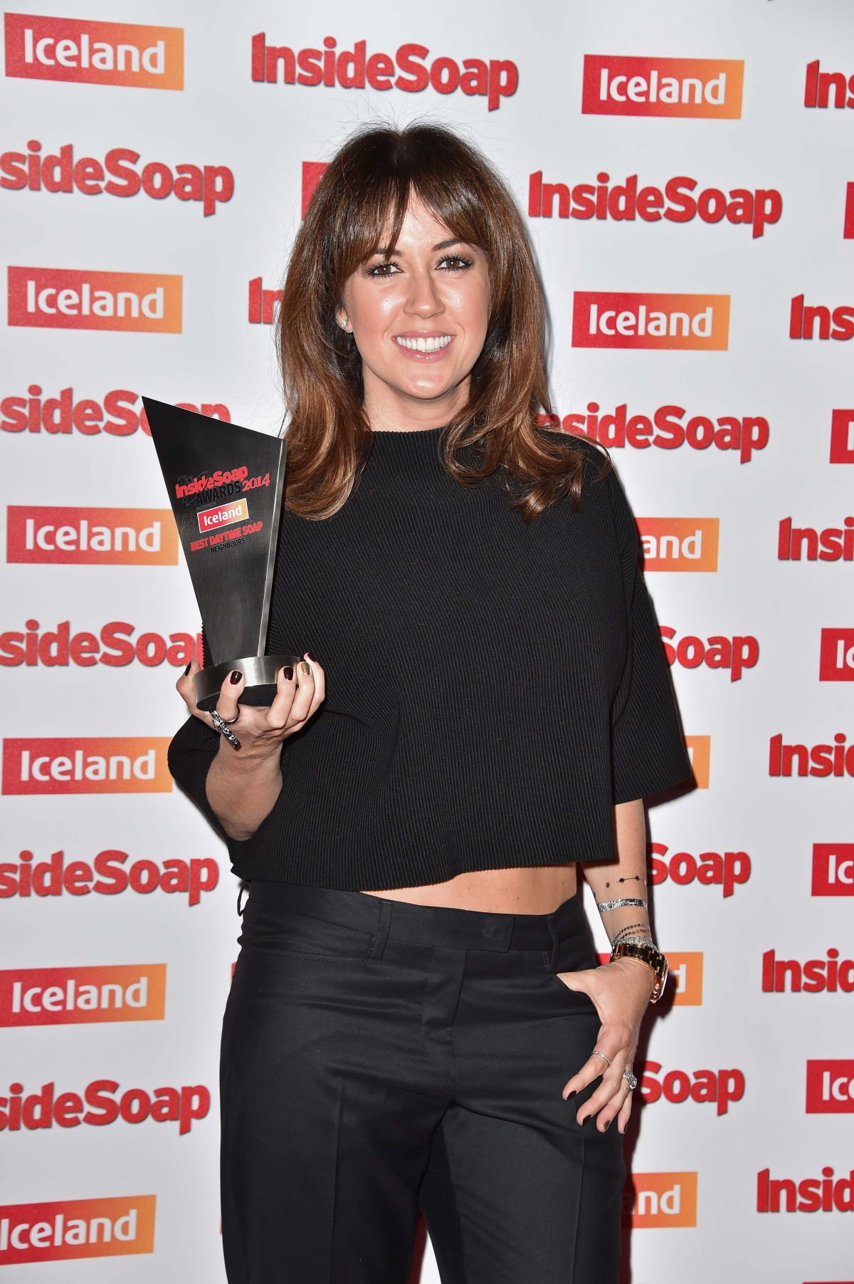 SHEREE MURPHY at Inside Soap Awards in London