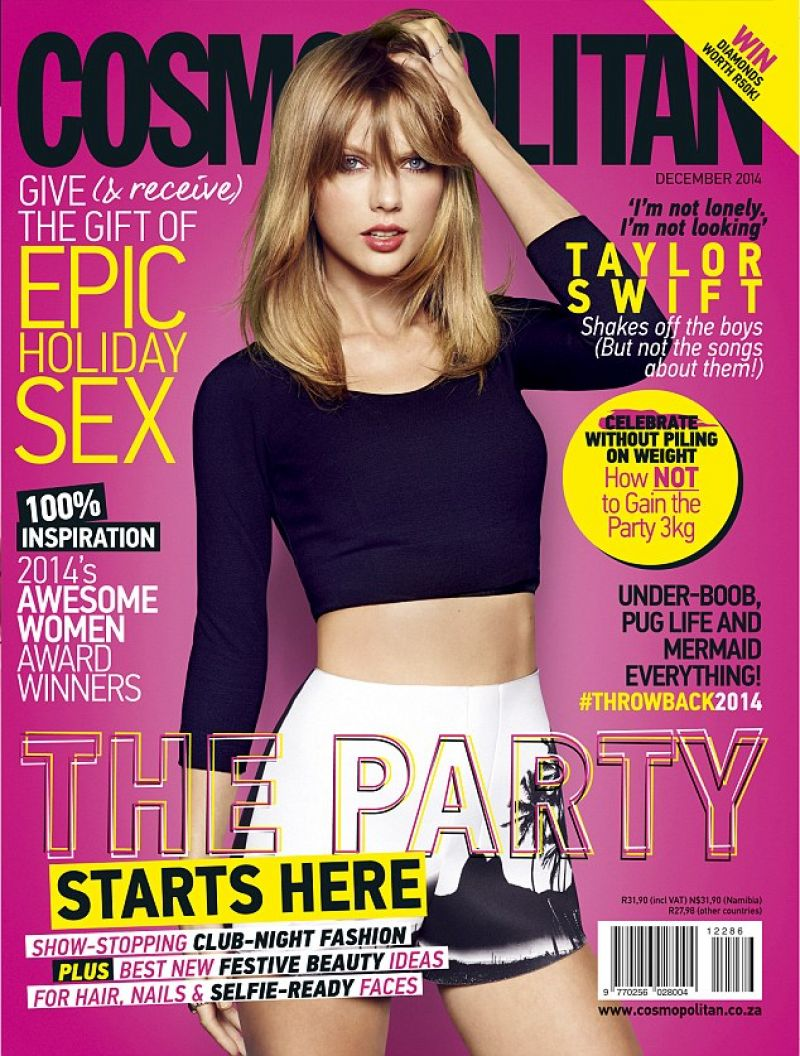 TAYLOR SWIFT on the Cover of Cosmopolitan Magazine, South Africa December 2014 Issue