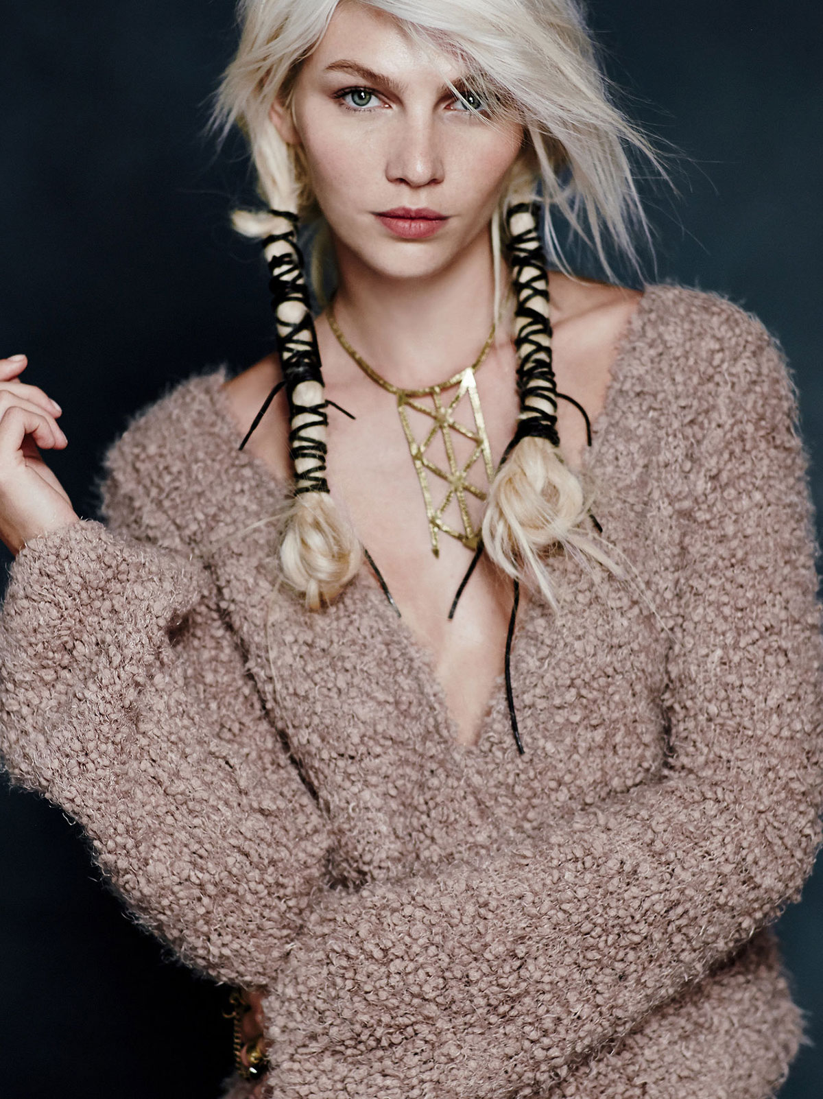 ALINE WEBER in Free People, November 2014 Lookbook