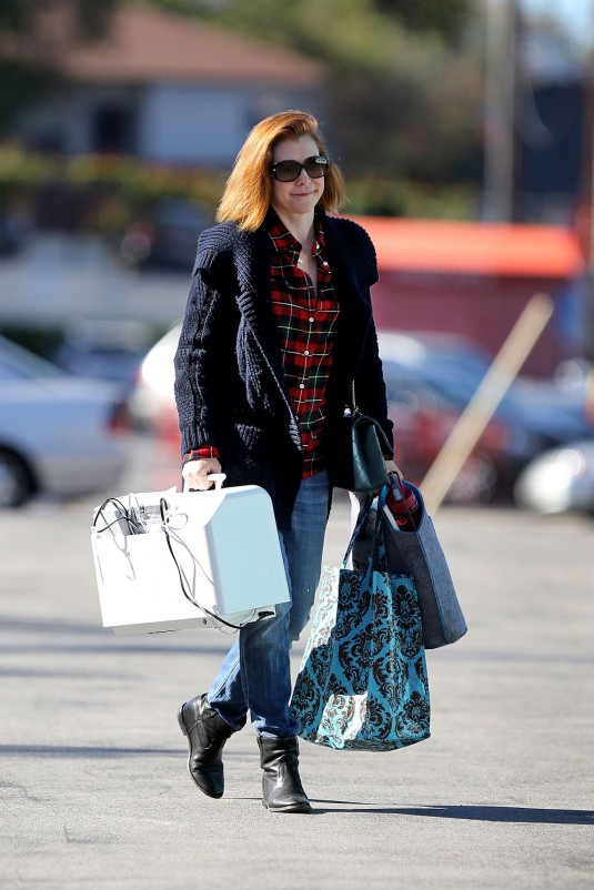 ALYSON HANNIGAN Heading to Sewing Class