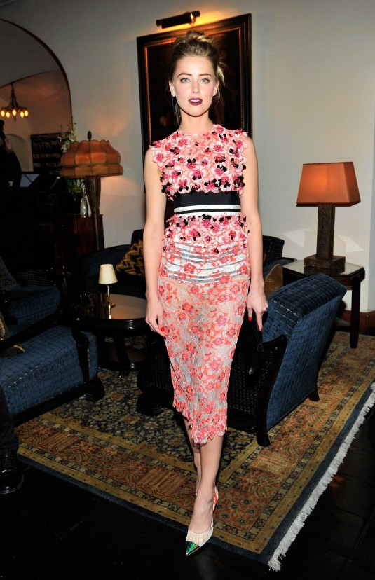 AMBER HEARD at MAC and Vogue Celebrate Giambattista Valli