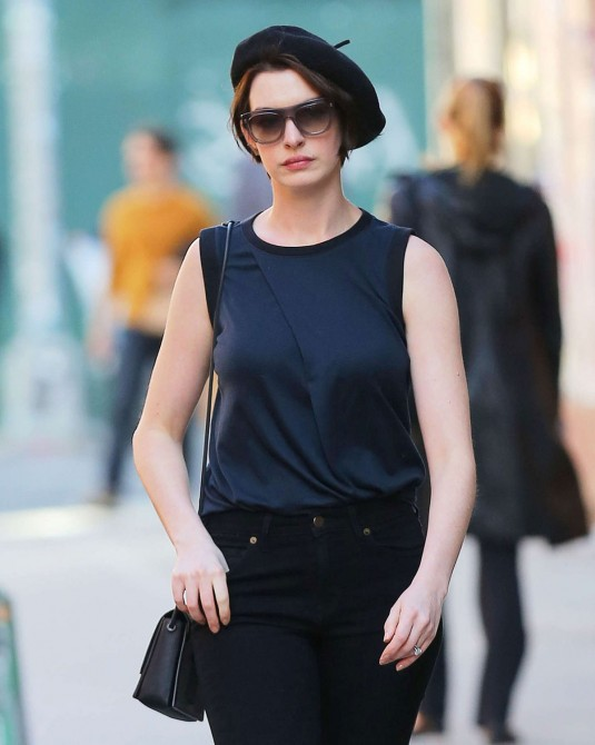 ANNE HATHAWAY in new York