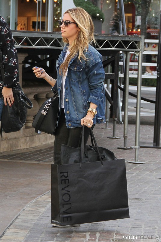 ASHLEY TISDALE Leaves Revolve Popup Store