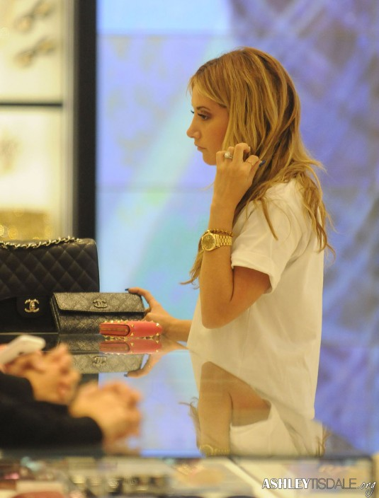 ASHLEY TISDALE Shopping at Chanel Store