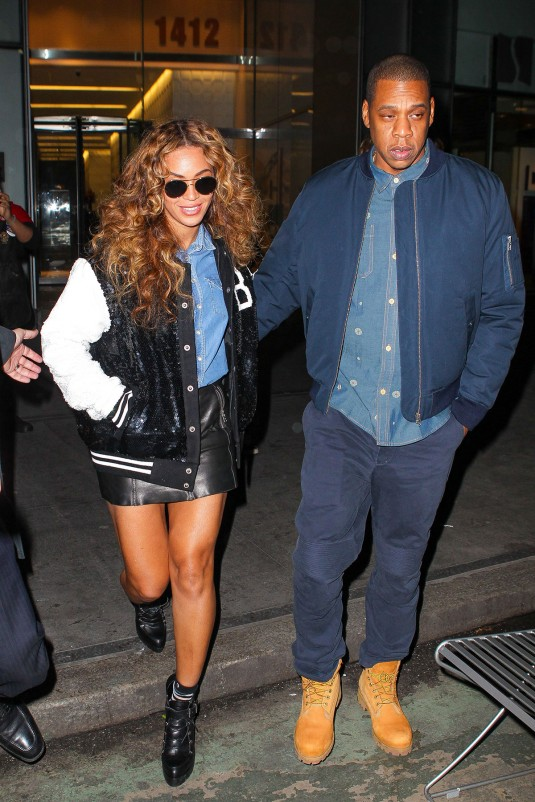 BEYONCE and JAZ Z Leaves Ther Office