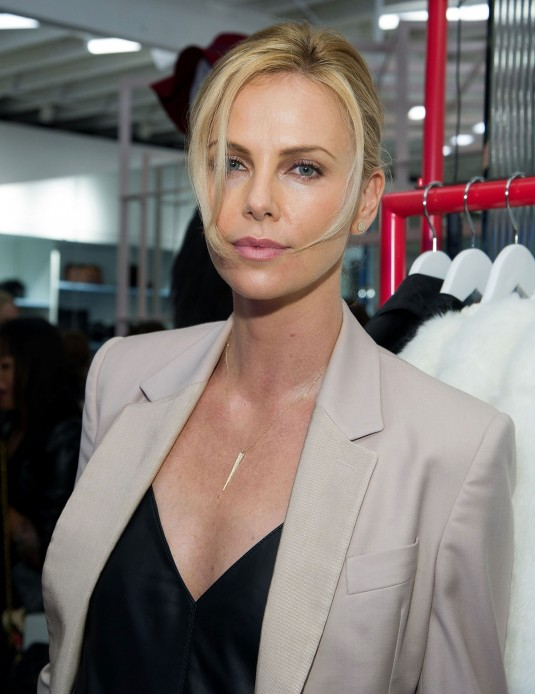 CHARLIZE THERON at Nasty Gal Melrose Store Launch
