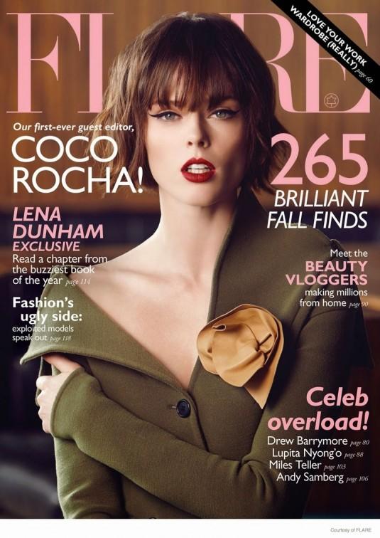 COCO ROCHA in Flare Magazine