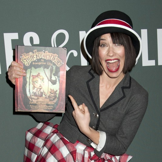 EVANGELINE LILLY Promotes Her Children Book The Squickerwonkers