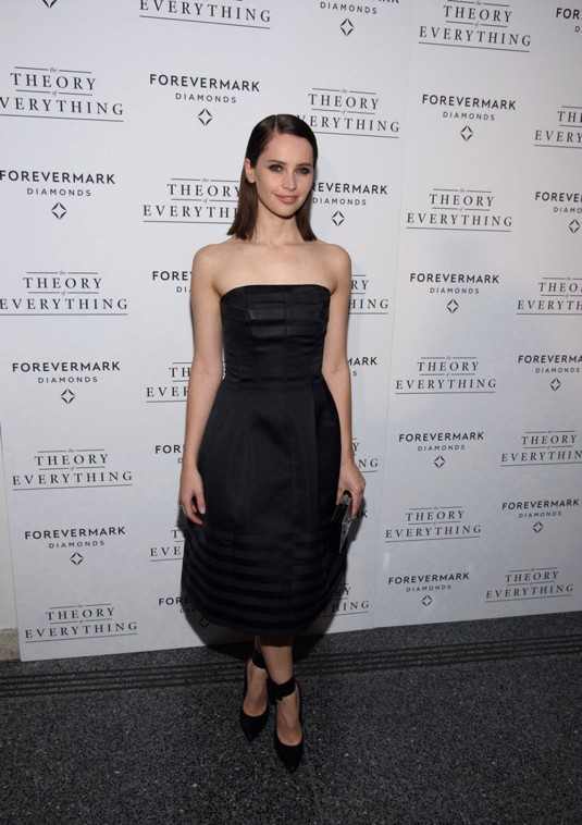 FELICITY JONES at Theory of Everything Premiere
