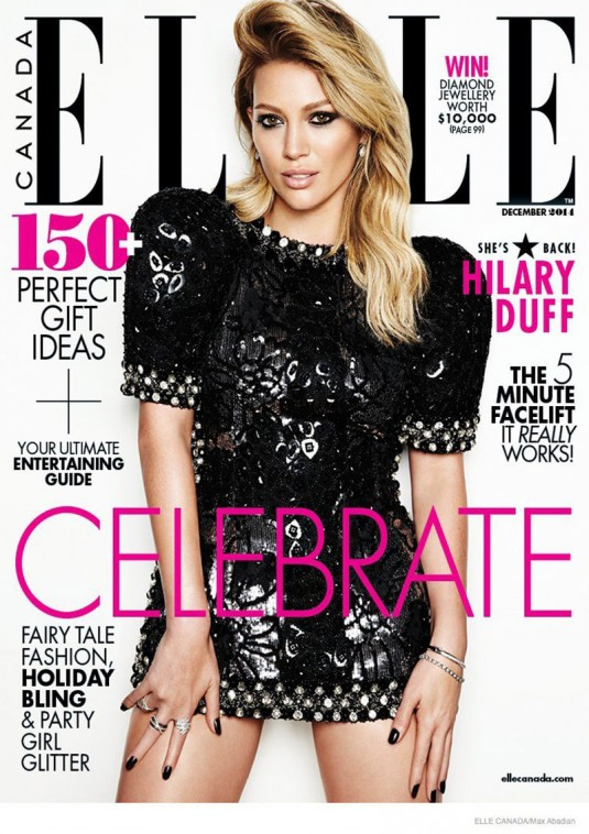 HILARY DUFF in Elle Magazine