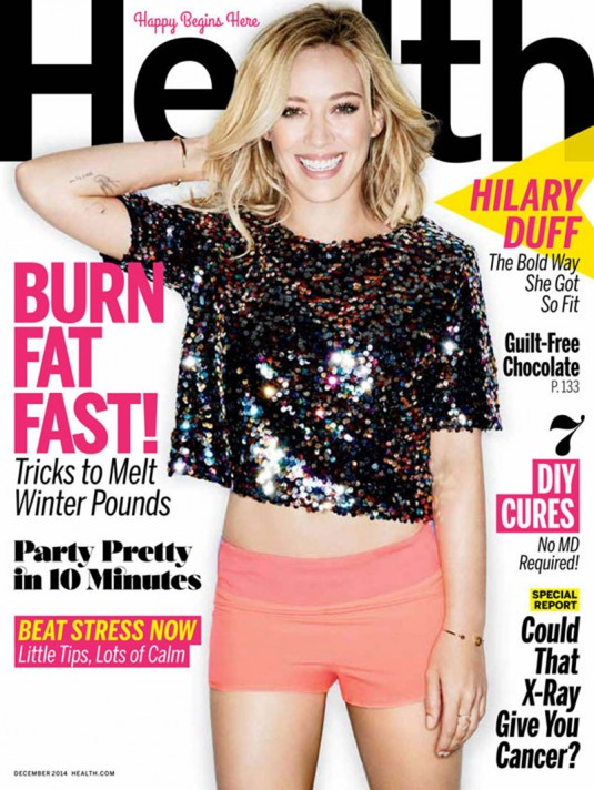 HILARY DUFF on the Cover of Health Magazine