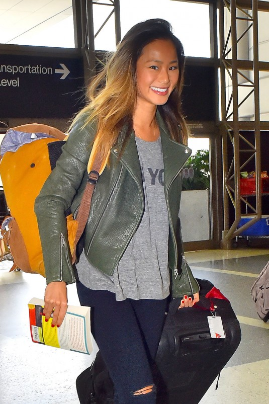JAMIE CHUNG at LAX Airport in Los Angeles