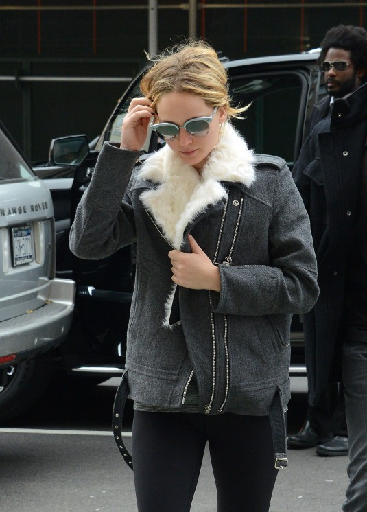 JENNIFER LAWRENCE Arrives at Soul Cycle