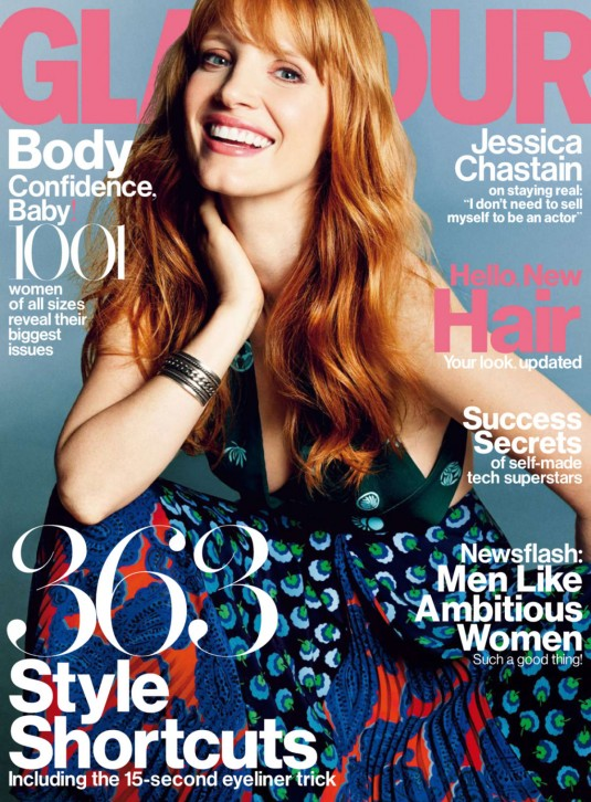 JESSICA CHASTAIN in Glamour Magazine
