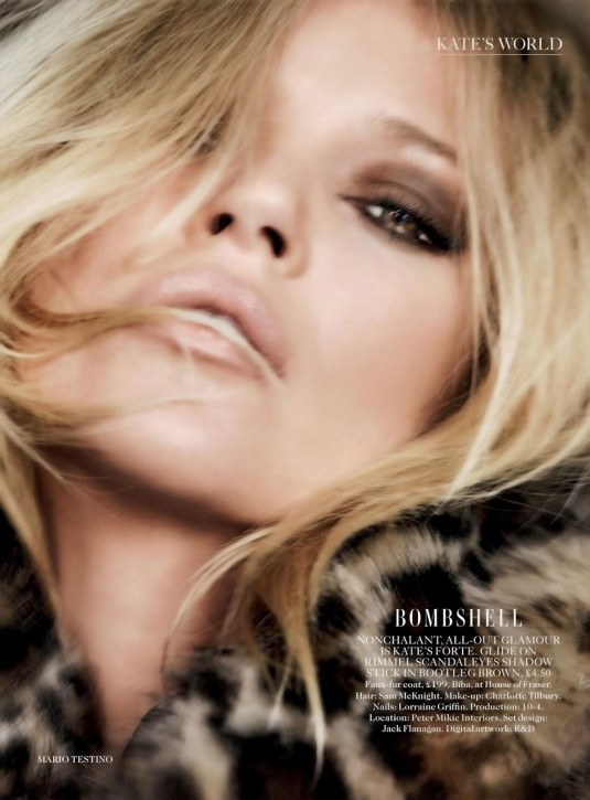 KATE MOSS in Vogue Magazine