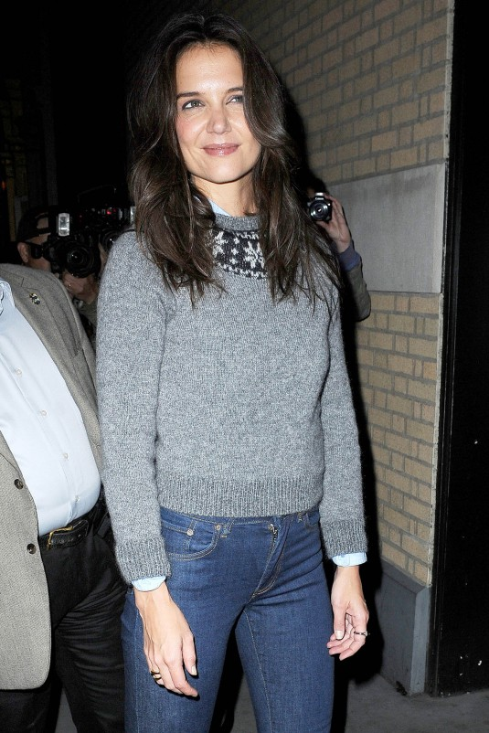 KATIE HOLMES at The Apple Store