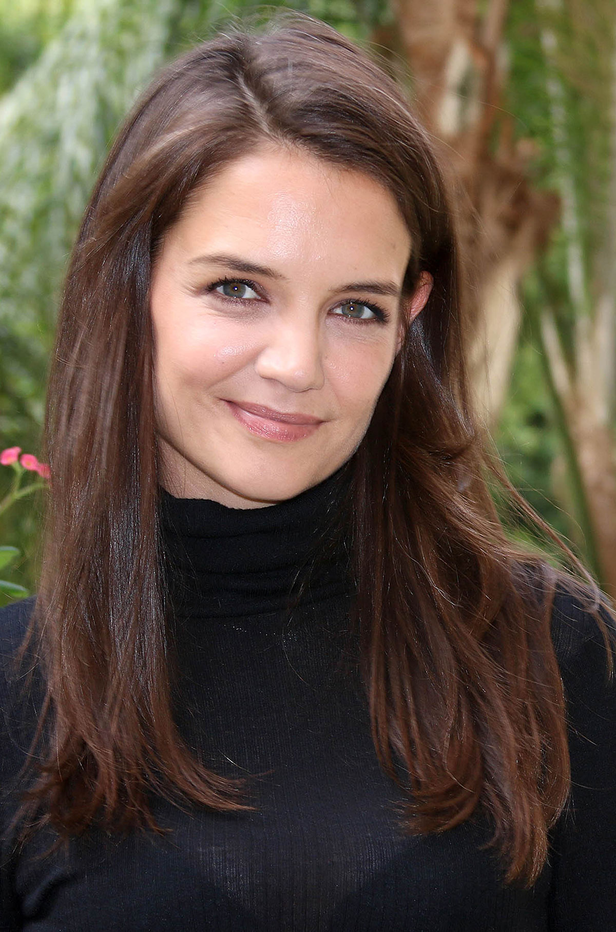 KATIE HOLMES at Miss Meadows Press Conference in Los ... Katie Holmes
