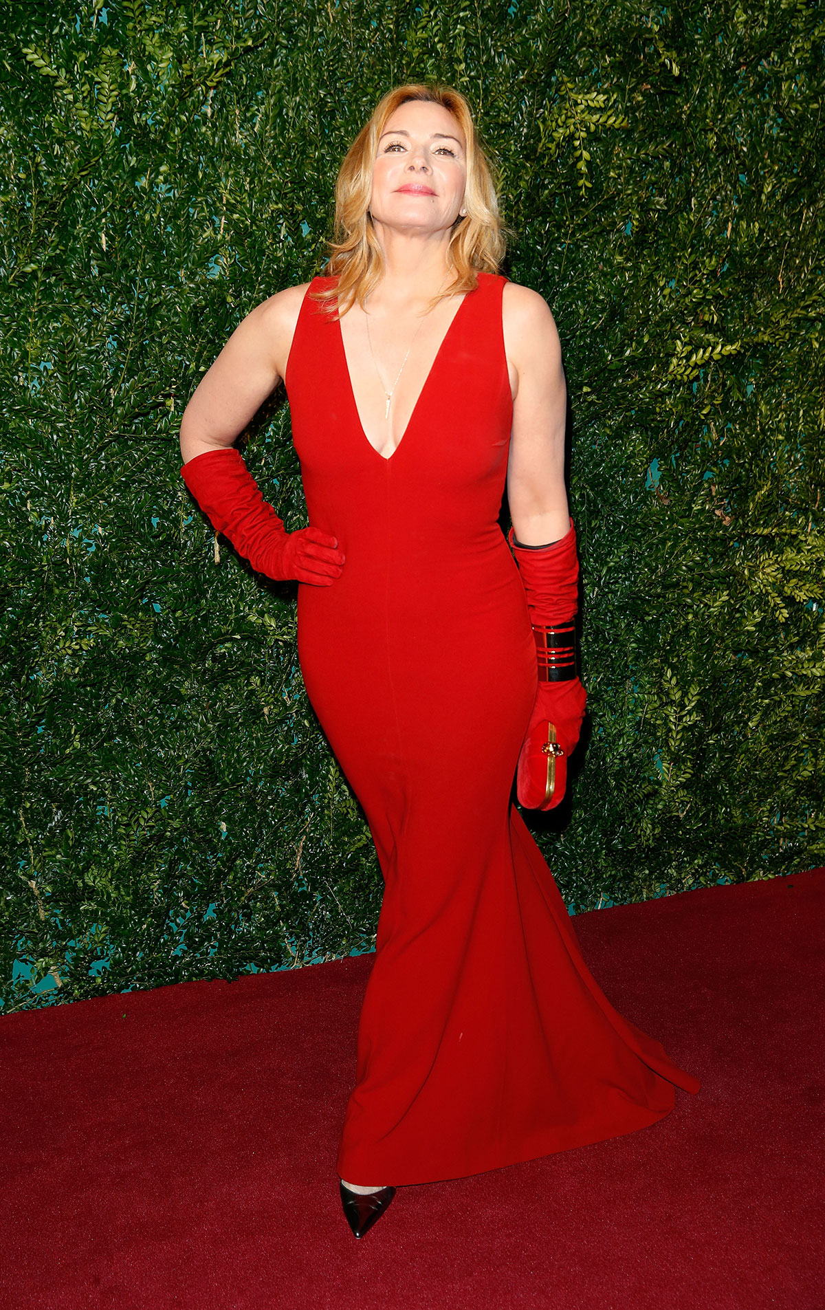 KIM CATTRALL at 2014 London Evening Standard Theatre Awards