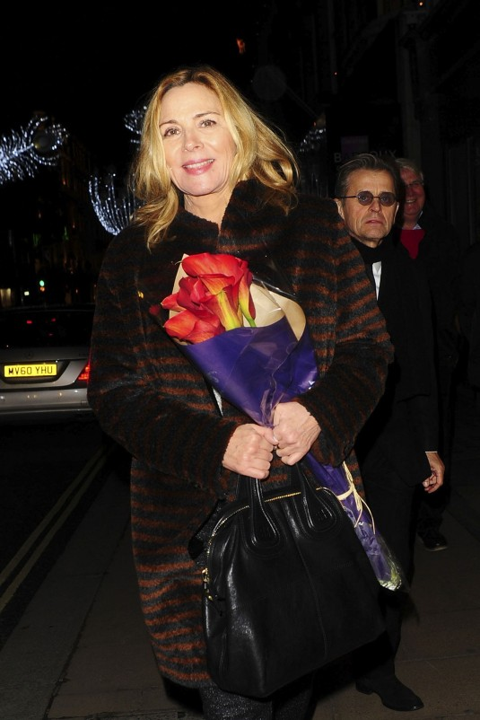 KIM CATTRALL at Mikhail Baryshnikov Dancing Away Private View