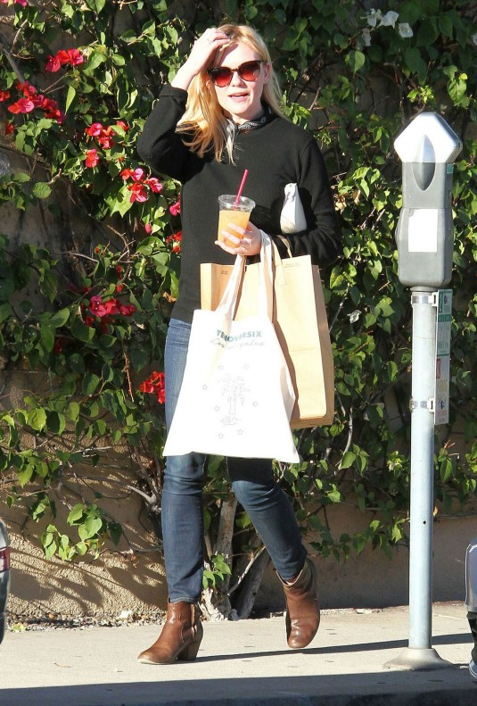 KIRSTEN DUNST Out Shopping in West Hollywood