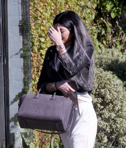 KYLIE JENNER Leaves Andy LeCompte Salon