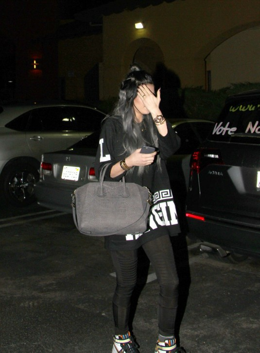 KYLIE JENNER Leaves the Regency Movie Theatre