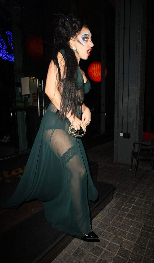 LADY GAGA Leaves All Star Lanes Bowling Alley