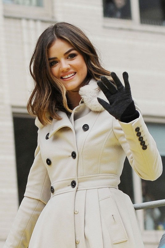 LUCY HALE at Macys Thanksgiving Day Parade