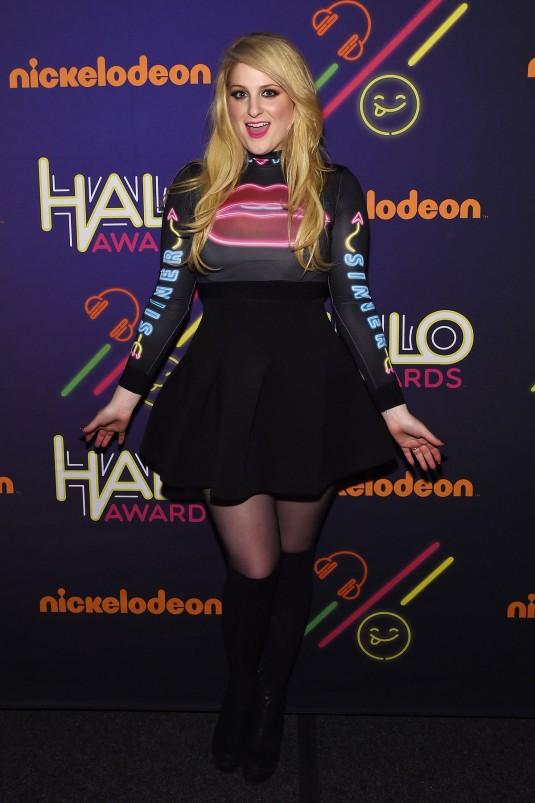 MEGHAN TRAINOR at Nickelodeon Halo Awards