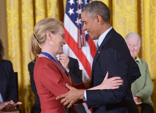 MERYL STREEP at Presidential Medal of Freedom Ceremony