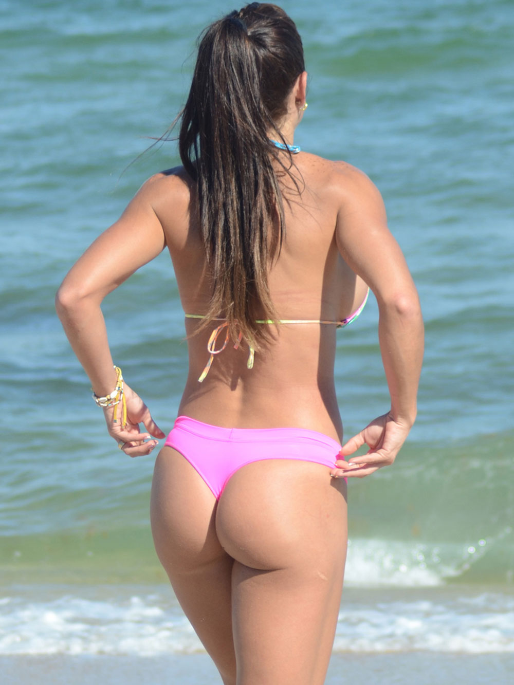 Michelle Lewin In Bikini On The Beach In Miami Hawtcelebs
