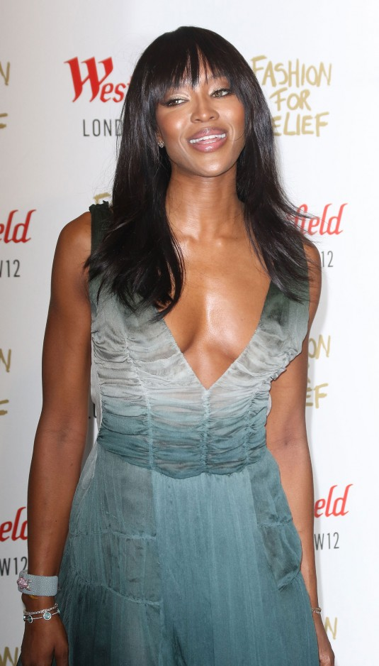 NAOMI CAMPBELL at Fashion for Relief Pop-up Store Launch