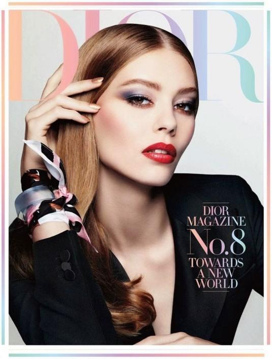 ONDRIA HARDIN in Dior Magazine