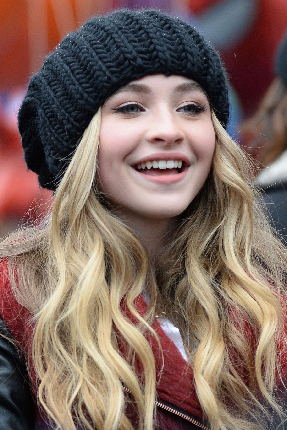Sabrina Carpenter At 2014 Macys Thanksgiving Day Parade In