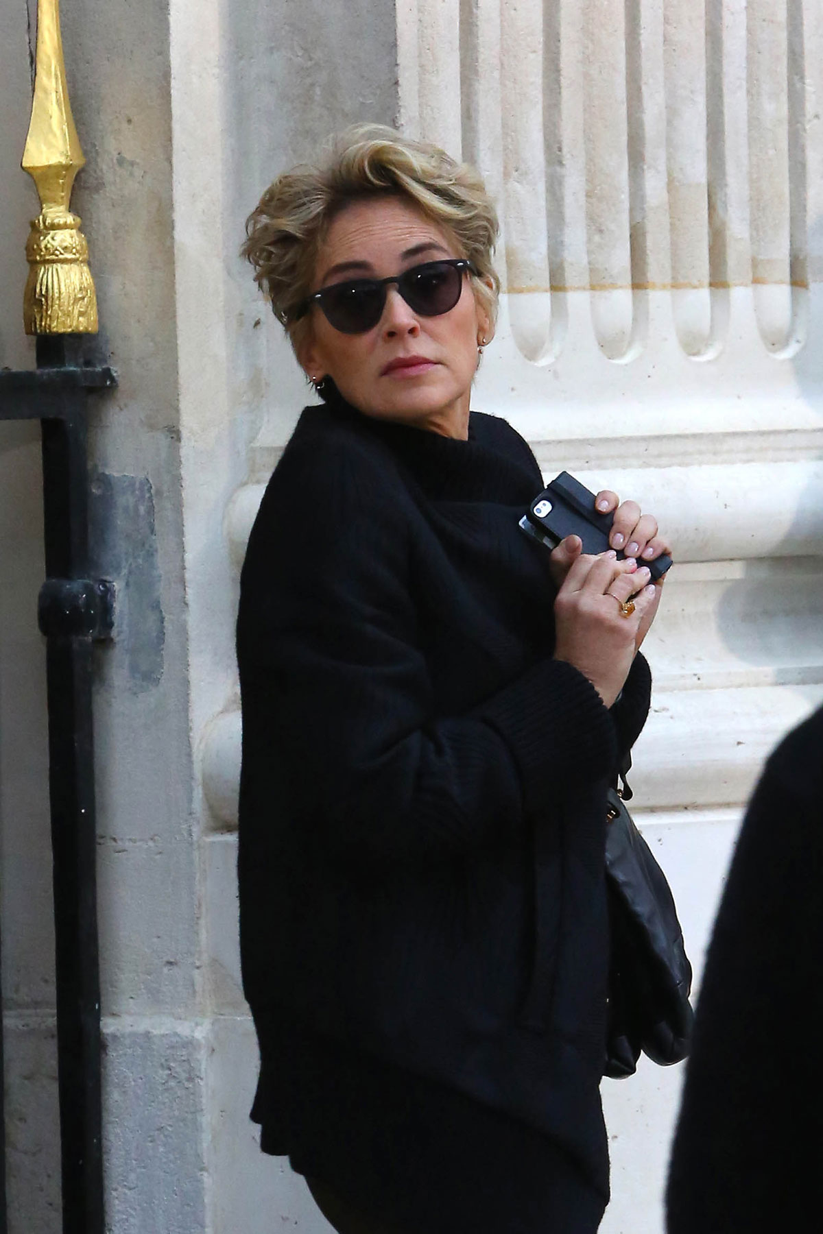 Sharon Stone On The Set Of New Alain Afflelou Commercial