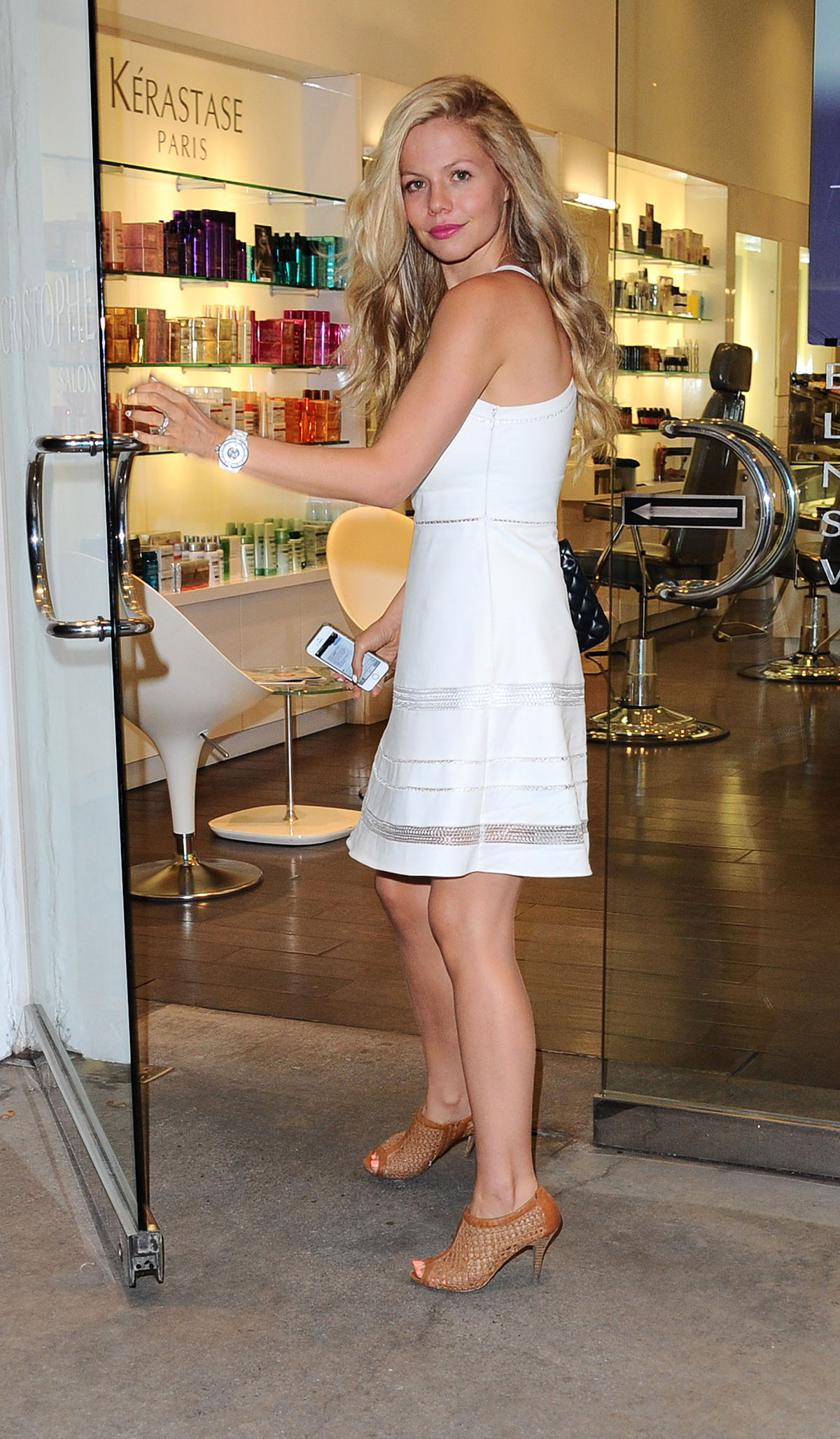 Tammin Sursok Dyes Her Hair Blonde At Cristophe Salon In