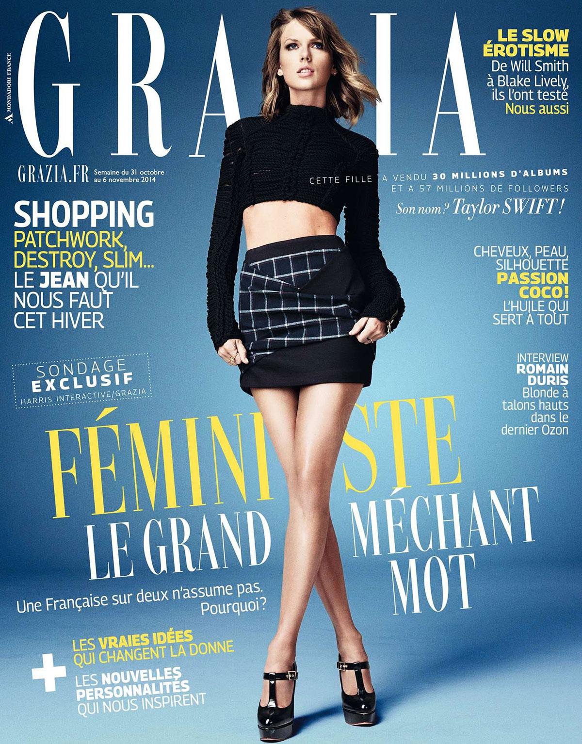 TAYLOR SWIFT In Grazia Magazine, November 2014 Issue